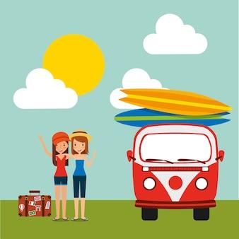 Reisen urlaub tourist mädchen glücklich
