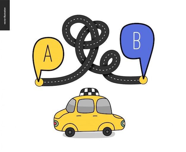Reisen von punkt a nach punkt b