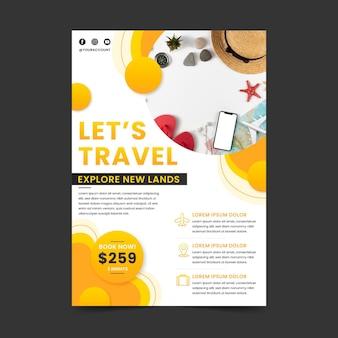 Reisende flyer vorlage mit foto
