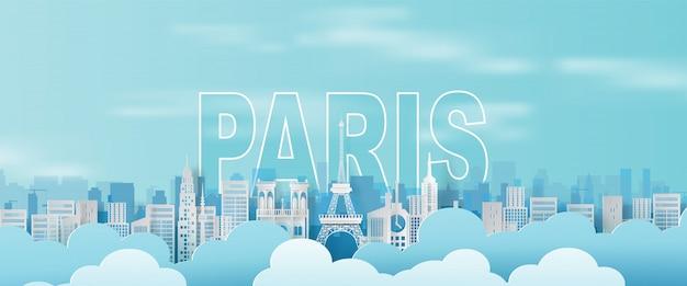 Reisender feiertag eiffelturm paris-stadt frankreich