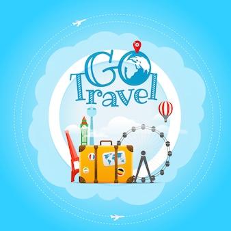 Reisendes plakat der ferien