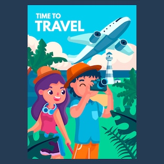 Reiseplakat illustriert