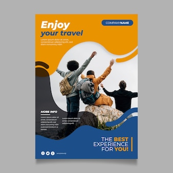 Reiseplakat-konzept