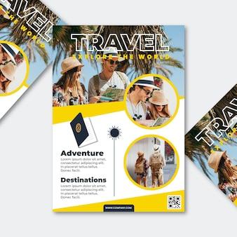 Reiseplakat mit foto