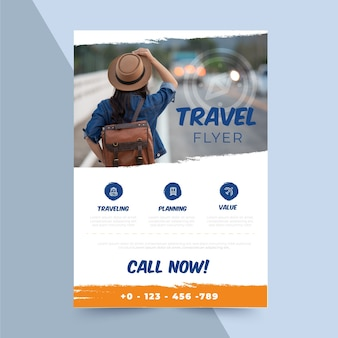 Reiseplakat mit fotovorlage