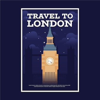 Reiseplakat mit london
