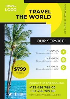 Reiseplakatdesign mit foto