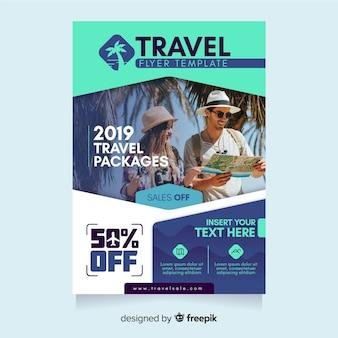 Reiseplakatschablone mit bild