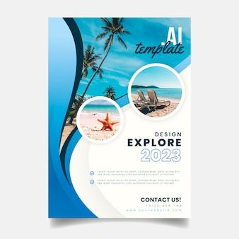 Reiseplakatschablone mit foto