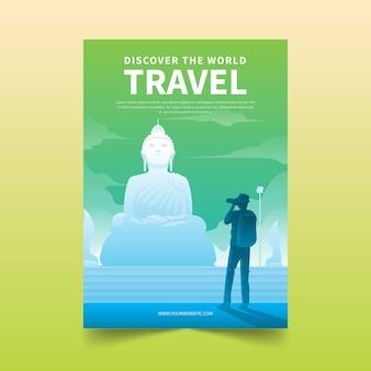 Reiseplakatschablonenkonzept