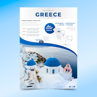 Reiseplakatstil mit foto