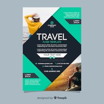 Reiseplakatvorlage mit foto
