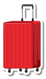 Reiseplastikkoffer mit radkarikaturaufkleber