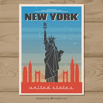 Reisepostkarte im vintage-stil