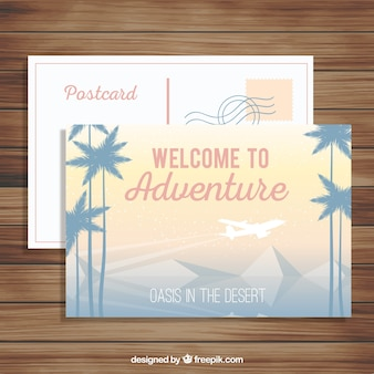 Reisepostkarten mit landschaft