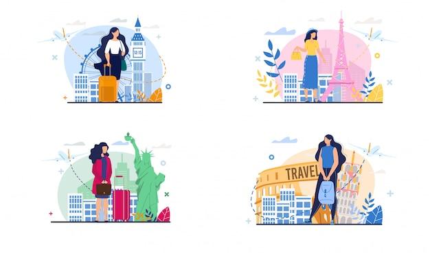 Reiseset für geschäftsreise, urlaub, reise