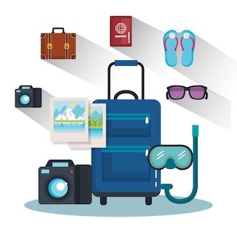 Reisetasche mit griff auf rädern