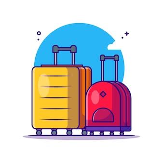 Reisetaschen sammlungen cartoon illustrationen