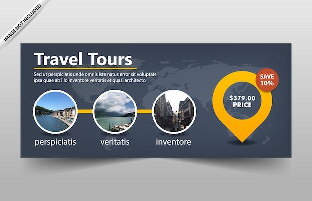 Reisetour-fahnenschablone für website und beleg
