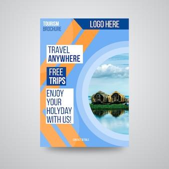 Reiseunternehmen broschüre design