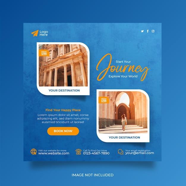 Reiseurlaub urlaub social media post webbanner