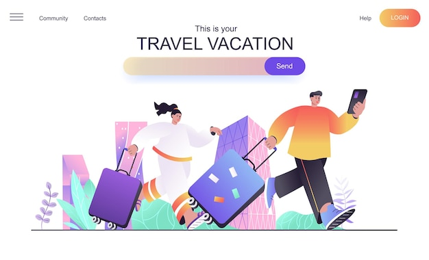 Reiseurlaub-webkonzept für die zielseite