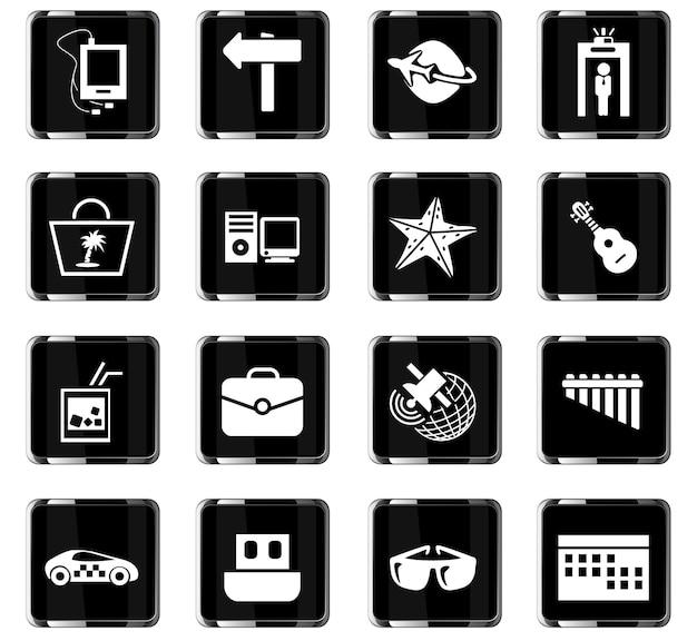 Reisevektorsymbole für das design der benutzeroberfläche