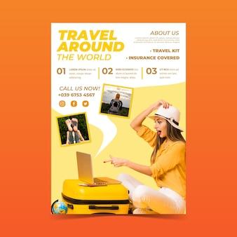 Reiseverkauf flyer konzept