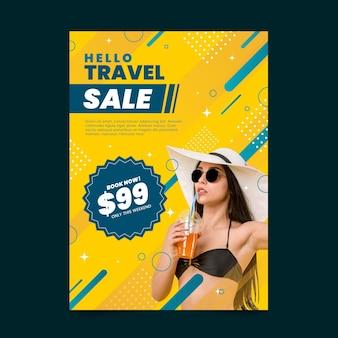 Reiseverkauf flyer mit foto