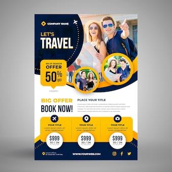 Reiseverkauf flyer vorlage