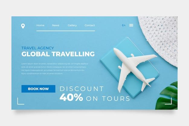 Reiseverkauf homepage mit foto