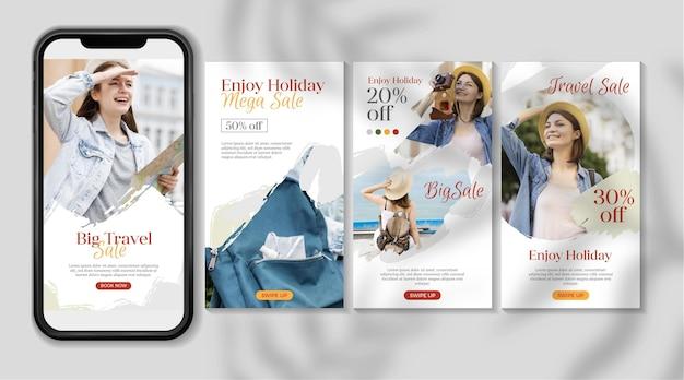 Reiseverkauf instagram geschichte sammlung design