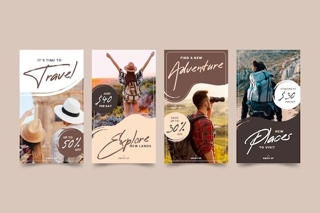 Reiseverkauf instagram geschichten stil