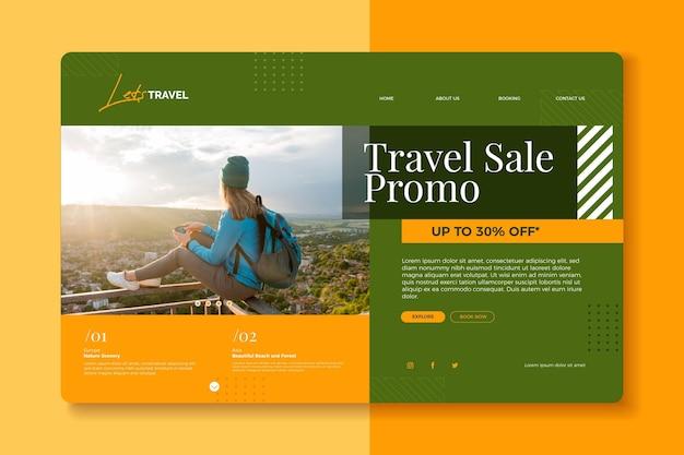 Reiseverkauf landing page mit foto
