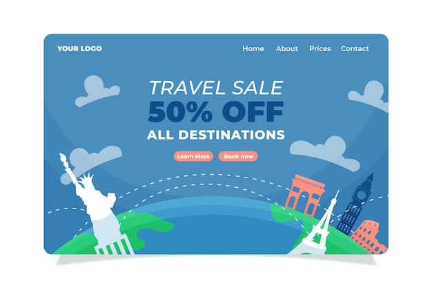 Reiseverkauf landing page style