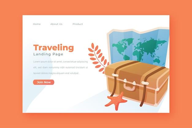 Reiseverkauf landing page vorlage