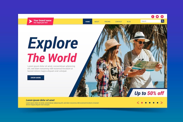 Reiseverkauf landing page