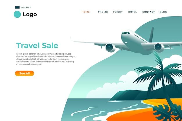 Reiseverkauf landingpage vorlage