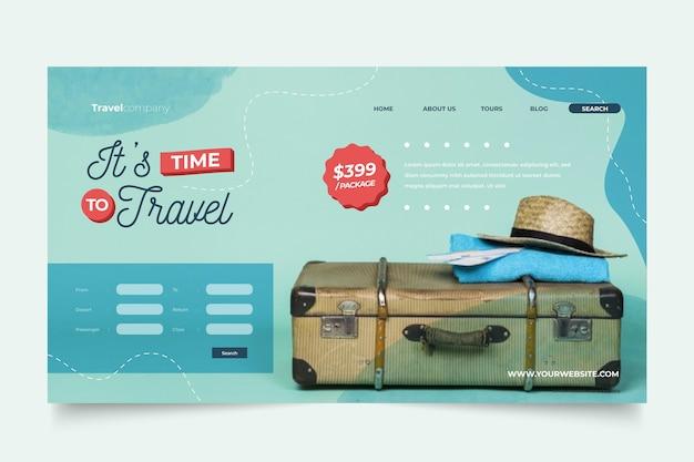 Reiseverkauf mit foto-landingpage