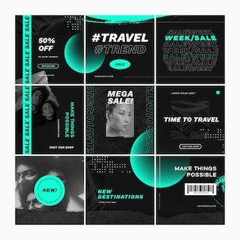 Reiseverkauf puzzle-feed-set