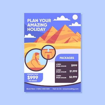 Reiseverkaufsplakatvorlage illustriert
