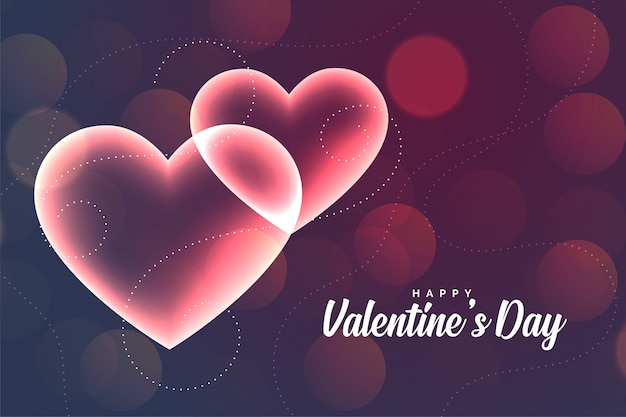 Reizende glühende romantische herzvalentinsgruß-tagesgrußkarte