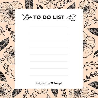 Reizende hand gezeichnete liste, zum der sammlung zu tun