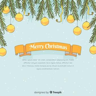 Reizende hand gezeichnete weihnachtszusammensetzung