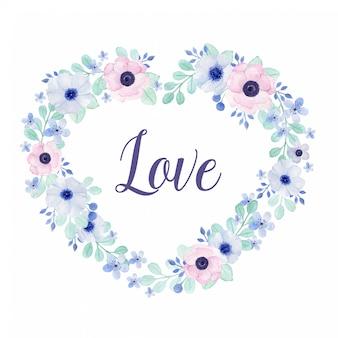 Reizende herzformgirlande mit der liebesbeschriftung perfekt für valentinsgruß, hochzeit oder jahrestag