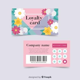 Reizende kundenkartenvorlage mit blumenart