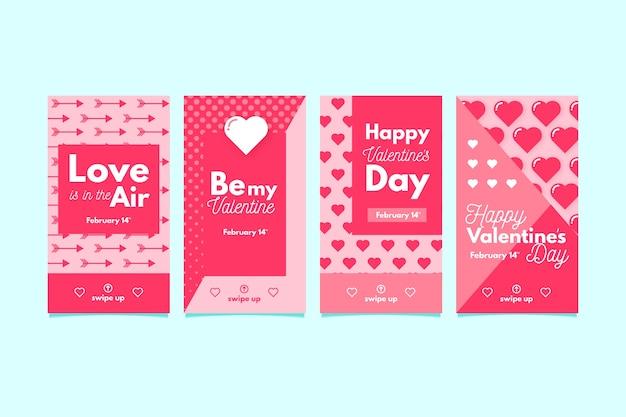 Reizende valentinstagverkaufs-geschichtenansammlung