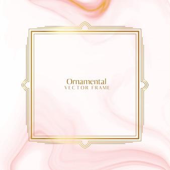 Reizender dekorativer dekorativer goldener rahmenhintergrund