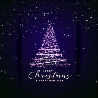 Reizender festivalbaum der frohen weihnachten kreativ