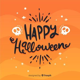 Reizender glücklicher halloween-beschriftungshintergrund